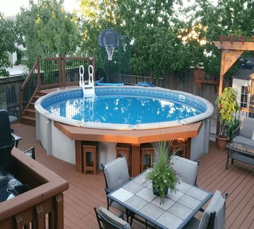 Above Ground Pool Bar Design