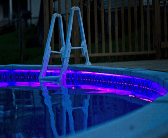 Colorful Lighting Above Ground Pool