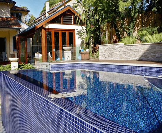 Stylish Tiles above ground pool
